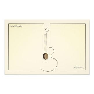 Acoustic Guitar Logo Design Notepaper Stationery Design