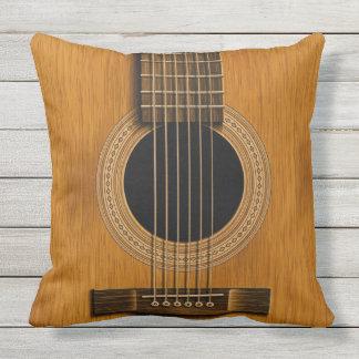 Acoustic Guitar Natural Wood Music Pillow