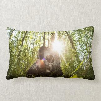 Acoustic Guitar Nature Sunlight Photography Lumbar Pillow