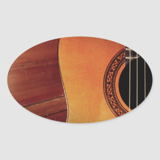 Acoustic Guitar Oval Sticker