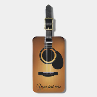 Acoustic Guitar Personalized Luggage Tag