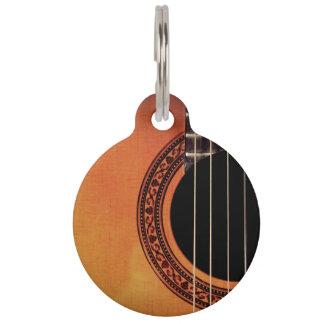 Acoustic Guitar Pet ID Tag