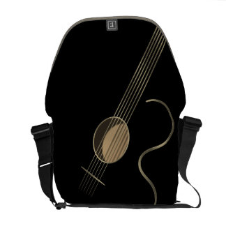 Acoustic Guitar Player Courier Bag