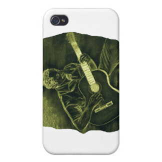 acoustic guitar player sit yellow invert iPhone 4/4S case