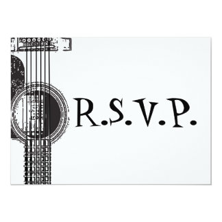 Acoustic Guitar RSVP Card