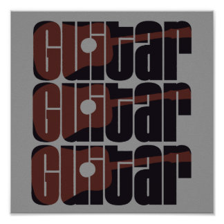 Acoustic Guitar Rust Poster