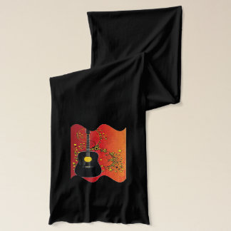 Acoustic guitar - scarf