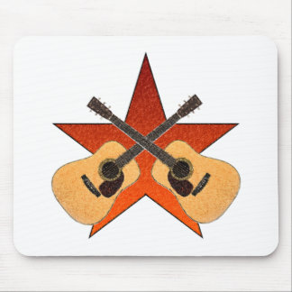 ACOUSTIC GUITAR STAR MOUSE PAD