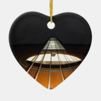 Acoustic Guitar Strings Ceramic Heart Ornament