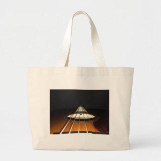 Acoustic Guitar Strings Large Tote Bag