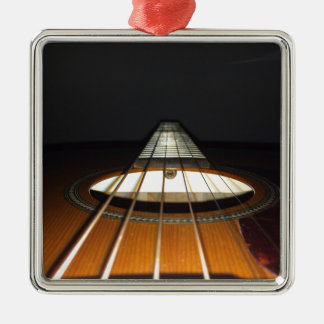 Acoustic Guitar Strings Silver-Colored Square Ornament
