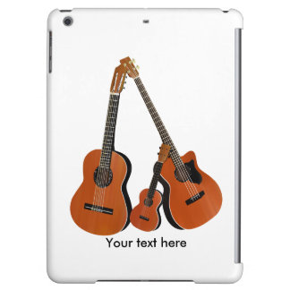 Acoustic Guitar Ukulele and Acoustic Bass iPad Air Cases