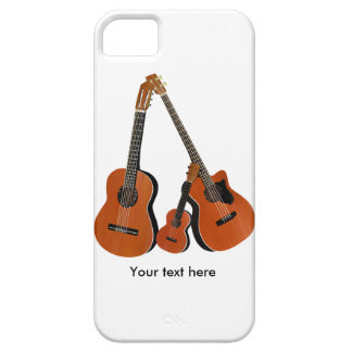 Acoustic Guitar Ukulele and Acoustic Bass iPhone 5 Covers