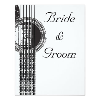 Acoustic Guitar Wedding Invitation