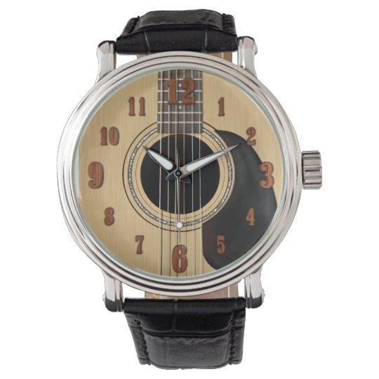 Acoustic Guitar Wristwatch
