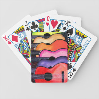 Acoustic Guitars Playing Cards