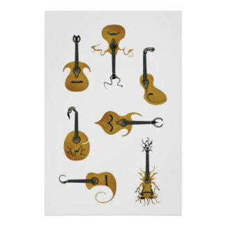 Acoustic Guitars Poster