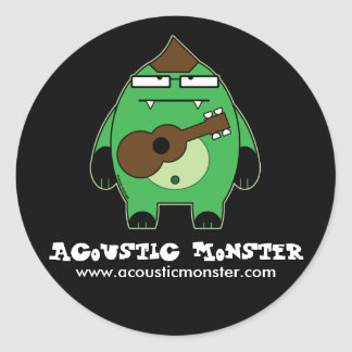 Acoustic Monster Stickers - Large Size