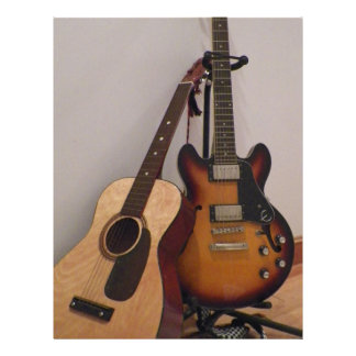 Acoustic or Electric Letterhead
