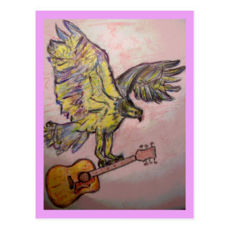 Acoustic So High fish hawk Postcard