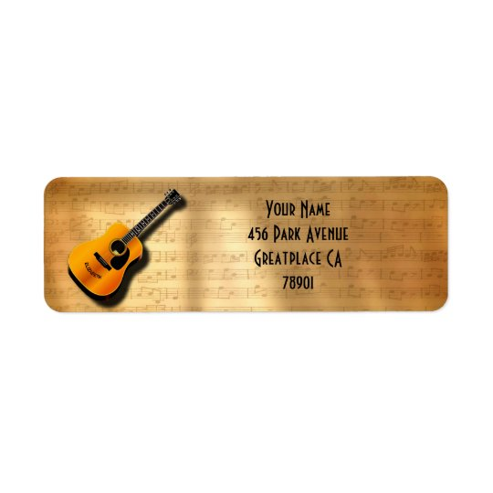 Acoustic Vintage Guitar With Musician Custom Name