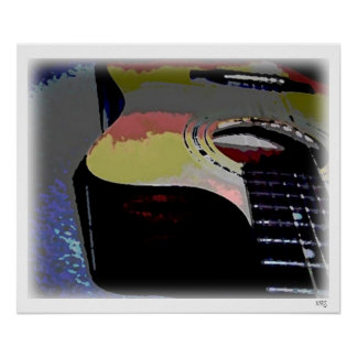 Acoustical Guitar (watercolor) Poster