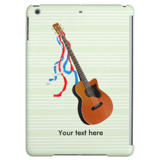 Acoutic Bass Guitar Music Pattern iPad Air Covers