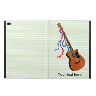 Acoutic Bass Guitar Patriotic ribbons