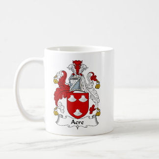 Acre Ancient Family Coat of Arms Crest Coffee Mug
