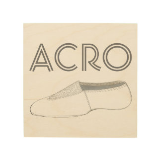 Acro Shoe Acrobatics Gymnastics Gym Dance Teacher Wood Wall Decor