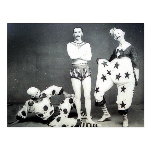 Acrobat and Clowns Postcard