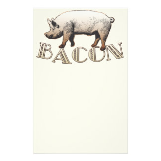 Acrobat BACON Pig Custom Stationery