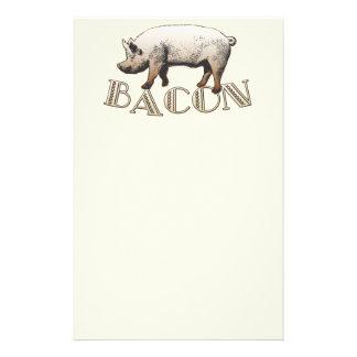 Acrobat BACON Pig Personalized Stationery