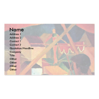 Acrobat By Macke August Business Card