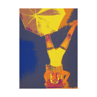 Acrobat Headstand Art   Single Canvas Print