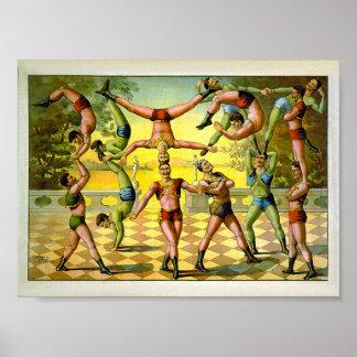 Acrobatics 1891 Vintage Circus Poster