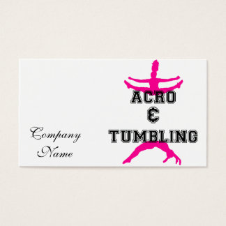 acrobatics and tumbling business card