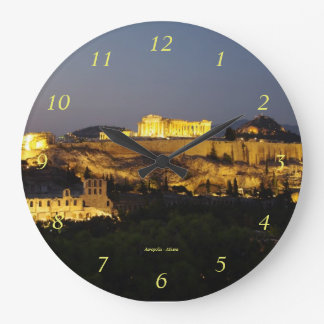 Acropolis – Athens Large Clock