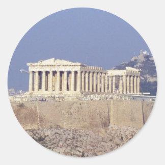 acropolis classic round sticker