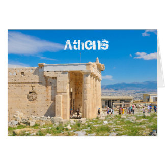 Acropolis in Athens, Greece Card