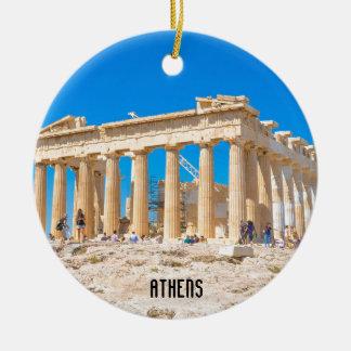 Acropolis in Athens, Greece Ceramic Ornament