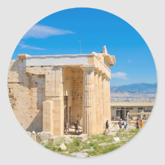 Acropolis in Athens, Greece Classic Round Sticker
