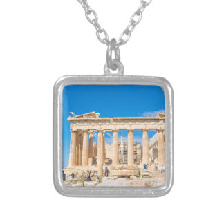 Acropolis in Athens, Greece Silver Plated Necklace