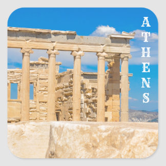 Acropolis in Athens, Greece Square Sticker
