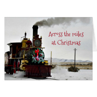 Across the Miles at Christmas Greeting Card