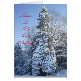 Across the Miles-Snow Covered Trees Card