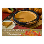 Across The Miles Thanksgiving Greeting Card