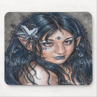 Across The Night I Saw Your Face Fairy Mousepad