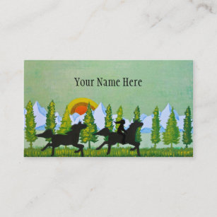 Equestrian business cards business card printing zazzle ca across the prairie business card reheart Gallery