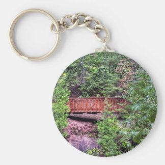 Across the Way Basic Round Button Keychain